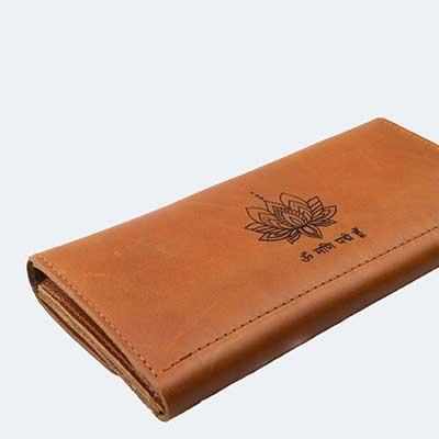 kožená peněženka gravírování